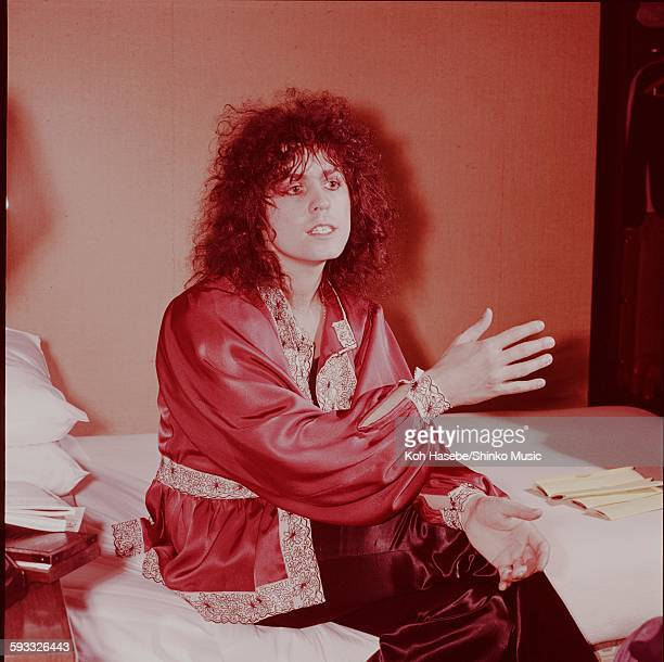 T Rex Marc Bolan photo session in Hilton Hotel Tokyo November 1972