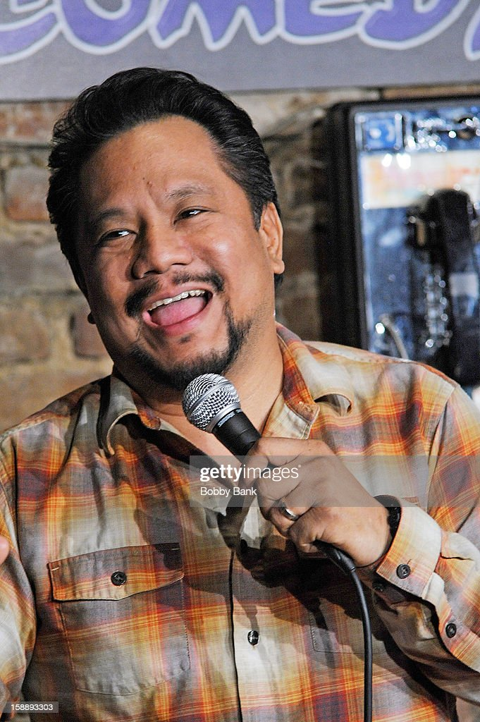 Rex Navarrete performs at The Stress Factory Comedy Club on January 2, 2013 in New Brunswick, New Jersey.