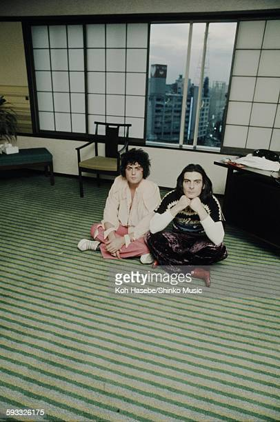 T Rex photo session at a hotel in Tokyo October 1973
