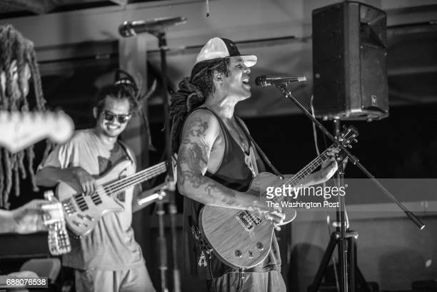 LIGNUM VA 7/23/16 Rex Riddem on guitar for Nappy Riddem and Patrick Cheng on bass jam for fans at Mustock Mustock is a private music festival hosted...