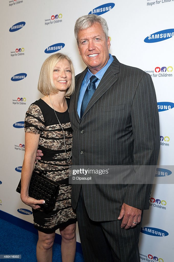 <a gi-track='captionPersonalityLinkClicked' href=/galleries/search?phrase=Rex+Ryan&family=editorial&specificpeople=2358658 ng-click='$event.stopPropagation()'>Rex Ryan</a> (R) and guest attend the 13th Annual Samsung Hope For Children Gala at Cipriani Wall Street on June 10, 2014 in New York City.