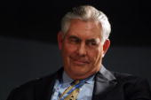 Rex Tillerson CEO of Exxon Mobil Corp attends the 12th St Petersburg International Economic forum on June 7 2008 in St Petersburg Russia Newly...