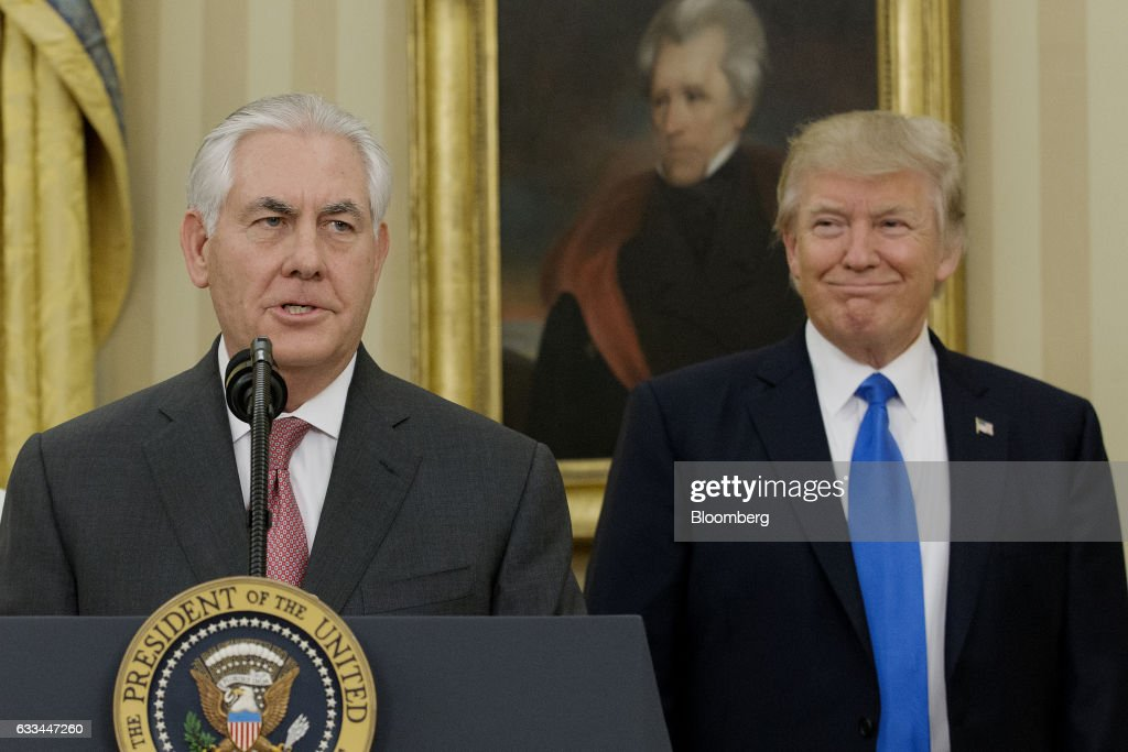 Image result for PHOTOS OF PRESIDENT AND REX TILLERSON