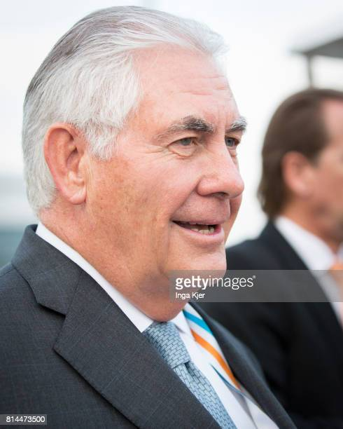 Rex Tillerson US Secretary of State joins the the G 20 summit on July 07 2017 in Hamburg Germany