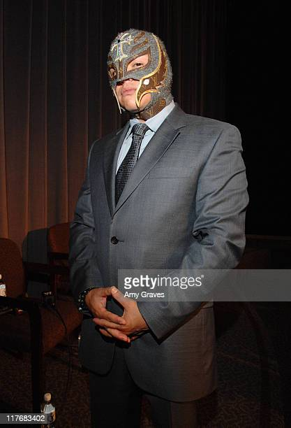 Rey Mysterio attends the WWE Emmy Screening of 'Tribute to the Troops' at the Director's Guild on May 28 2008 in Los Angeles California