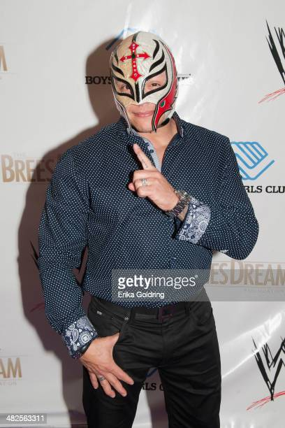 Rey Mysterio attends WWE's 2014 SuperStars For Kids at the New Orleans Museum of Art on April 3 2014 in New Orleans City