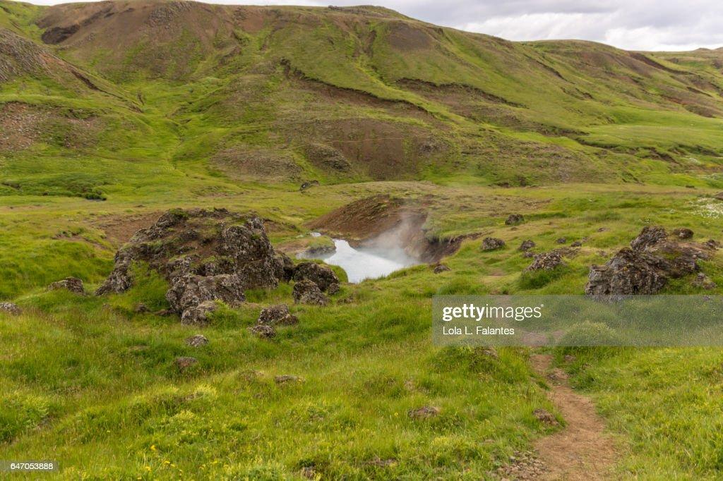 Reykjadalur Hot Springs, Iceland : Foto de stock