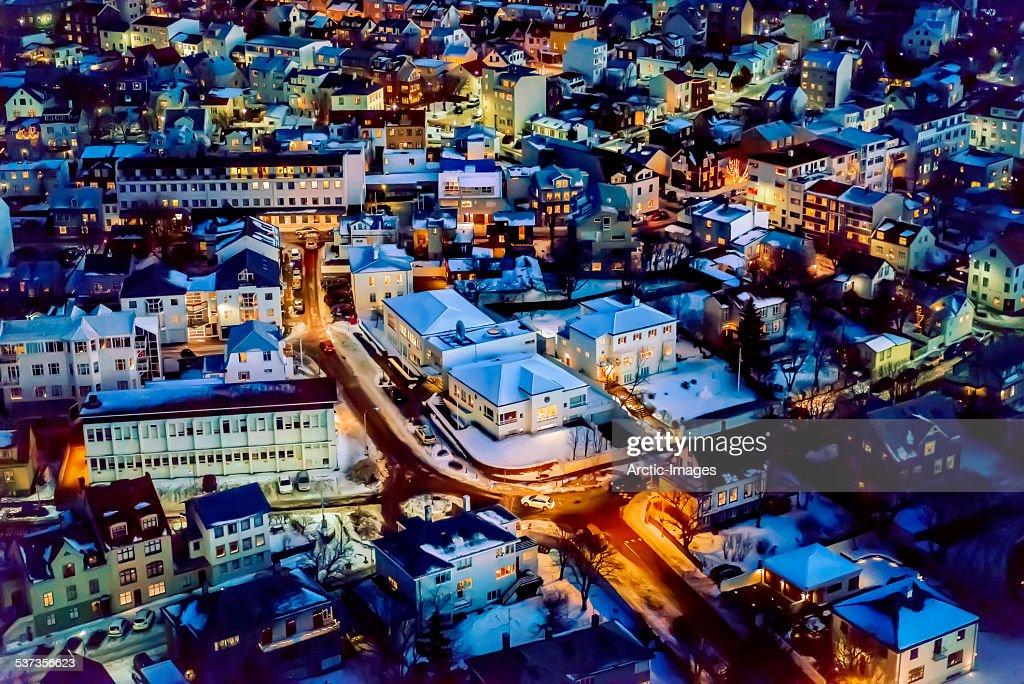 Reykjavik at twilight, Iceland