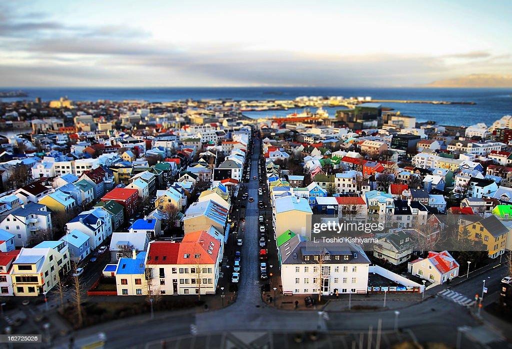 Reykjavik, Iceland, from the Hallgrímskirkja Tower
