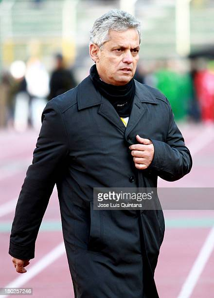 Reynaldo Rueda coach of Ecuador poses for a photo before a match between Bolivia and Ecuador as part of the 16th round of the South American...