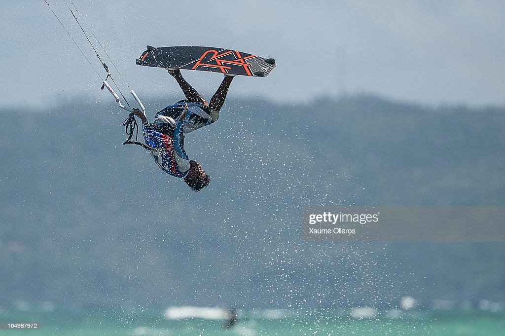 Reynard Gajisan of Philippines competes on freestyle during day five of the KTA at Boracay Island on March 30, 2013 in Makati, Philippines.