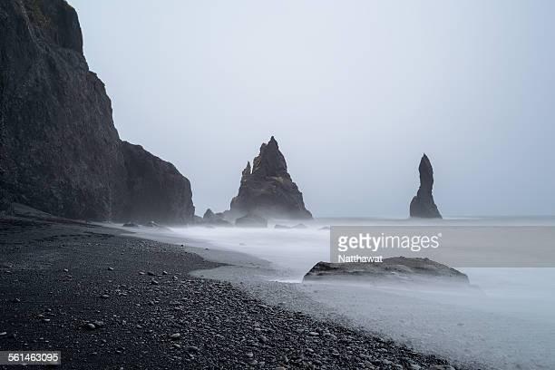 Reynisdrangar rock sea stacks