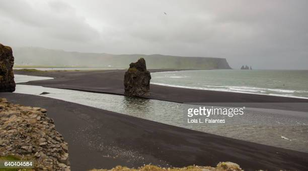 Reynisfjara black beach and rocks