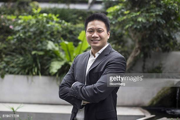 Reynold Wijaya Harvard Business School student and cofounder of Funding Societies stands for a photograph at the school in Boston Massachusetts US on...