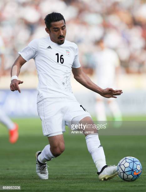 Reza Ghoochannejhad of Iran in action during Iran against China PR FIFA 2018 World Cup Qualifier on March 28 2017 in Tehran Iran