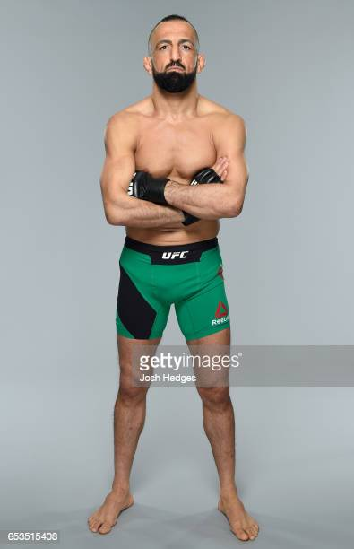 Reza Madadi of Iran poses for a portrait during a UFC photo session on March 15 2017 in London England