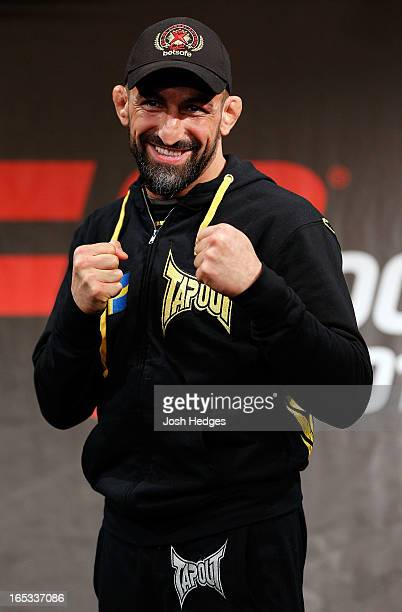 Reza Madadi of Sweden poses for photos during an interview session at the Grand Hotel on April 3 2013 in Stockholm Sweden
