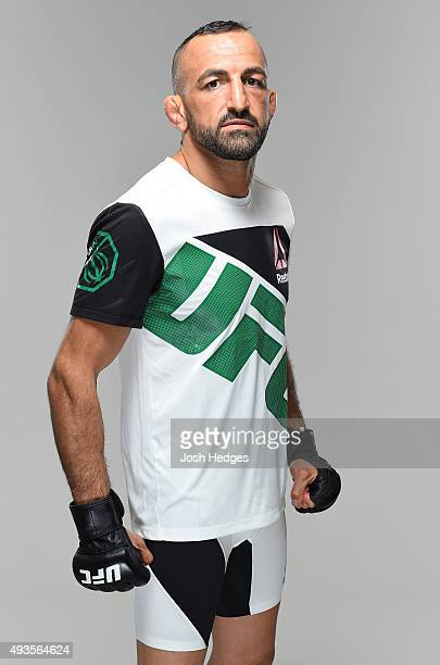 Reza Madadi poses for a portrait during a UFC photo session at The Gibson Hotel on October 21 2015 in Dublin Ireland