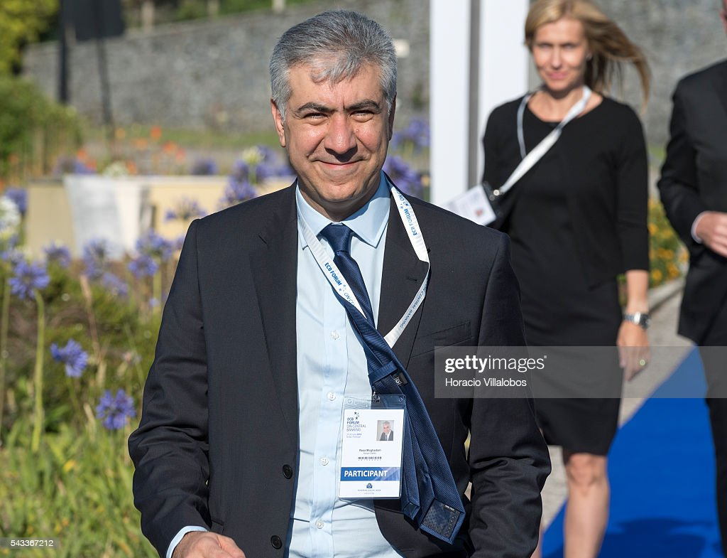 Reza Moghadam, a British-Iranian economist who has been Vice-Chairman for Global Capital Markets at Morgan Stanley since October 2014, arrives to participate in the ECB Forum on Central Banking on June 27, 2016 in Sintra, Portugal. The third annual European Central Bank Forum on Central Banking focuses on 'The future of the international monetary and financial architecture', a key topic of debate among economists and policymakers. Some 150 central bank governors, academics, financial journalists and high-level financial market representatives will discuss current policy issues and the chosen topic from a longer-term perspective.