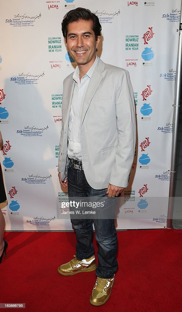 Reza Sixo Safai attends the 2013 Farhang Foundation Short Film Festival held at the Bing Theatre at LACMA on March 16, 2013 in Los Angeles, California.