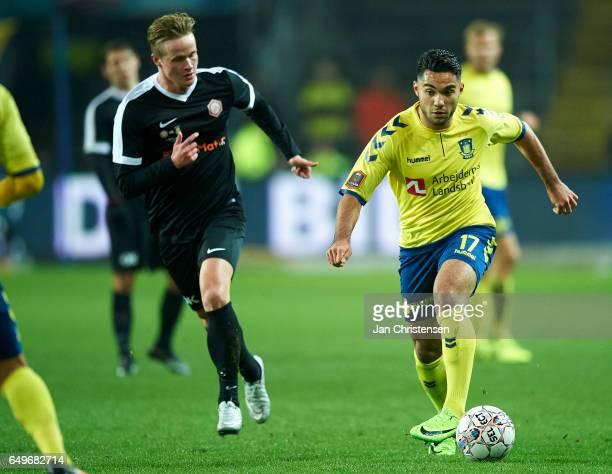 Rezan Corlu of Brondby IF in action during the Danish Cup DBU Pokalen match between BK Marienlyst and Brondby IF at Brondby Stadion on March 08 2017...
