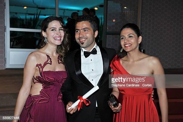 L Rezan Yesilbas winner of the Palme d'Or for Short Films for Sessizbe deng at Winners Dinner Arrivals during the 65th Cannes International Film...