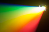 rgb spectrum light of projector, copy-space for your text