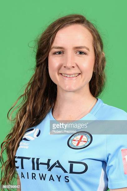 Rhali Dobson poses during the Melbourne City WLeague headshots session on November 2 2017 in Melbourne Australia