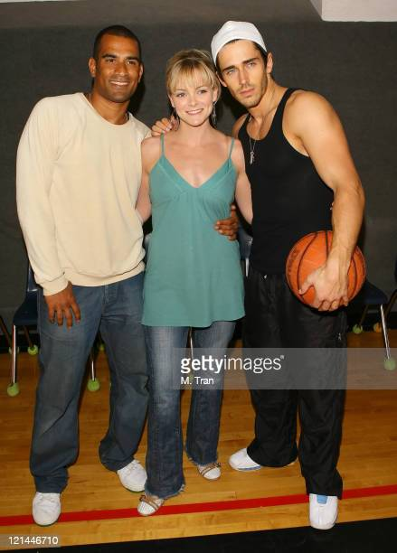 Rhasaan Orange Martha Madison and Brandon Beemer during 18th Annual 'Days of Our Lives' Celebrity Basketball Game at South Pasadena High School in...