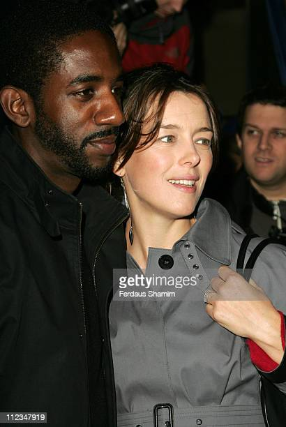 Rhashan Stone and Olivia Williams during What's On Stage Awards Arrivals at Cafe de Paris in London Great Britain