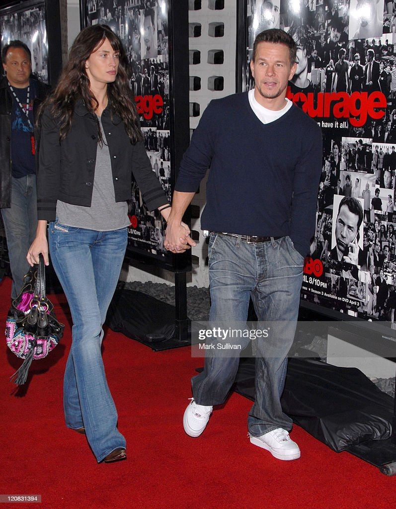 Rhea Durham and Mark Wahlberg during 'Entourage' Third Season Premiere Arrivals at The Cinerama Dome in Hollywood California United States