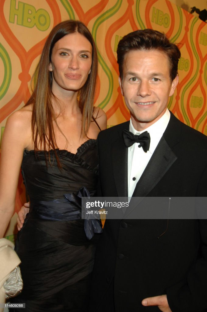Rhea Durham and Mark Wahlberg during HBO 2007 Golden Globe After Party Red Carpet at Beverly Hilton in Los Angeles California United States