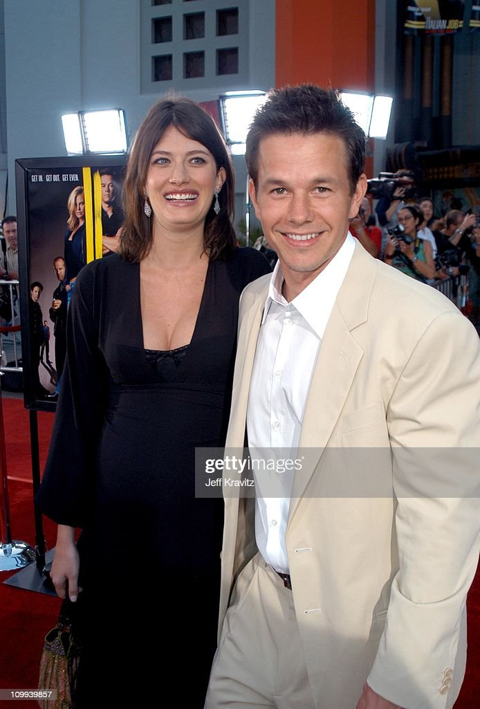 Rhea Durham and Mark Wahlberg during The Italian Job Premiere Red Carpet Arrivals at Mann's Chinese Theater in Hollywood California United States