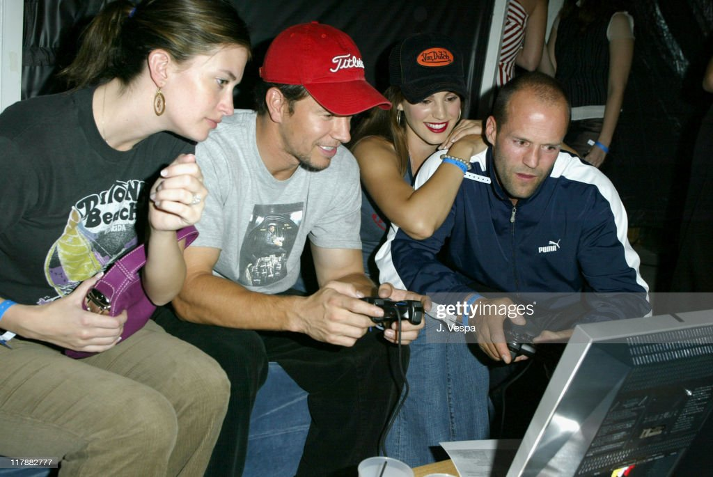 Rhea Durham Mark Wahlberg and Jason Stratham during PlayStation 2 and Mark Wahlberg Host Celebrity Gaming Tournament for Charity Inside at Club Ivar...