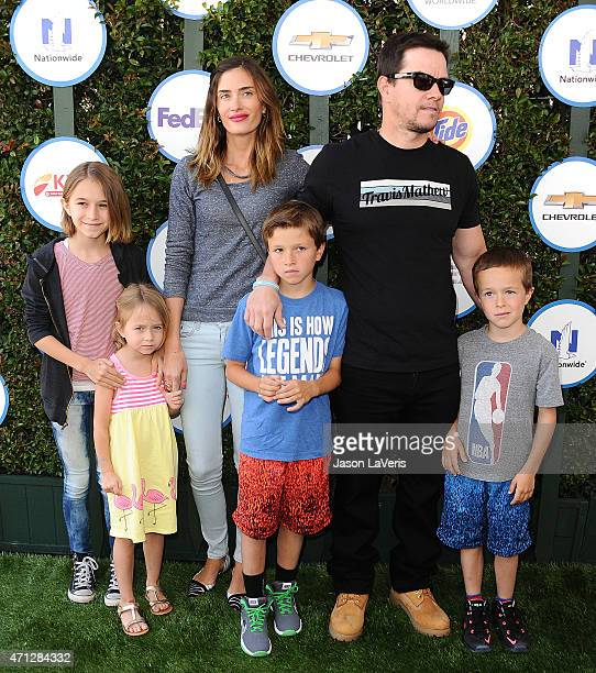 Rhea Durham Mark Wahlberg Brendan Joseph Wahlberg Grace Margaret Wahlberg Ella Rae Wahlberg and Michael Wahlberg attend Safe Kids Day at The Lot on...