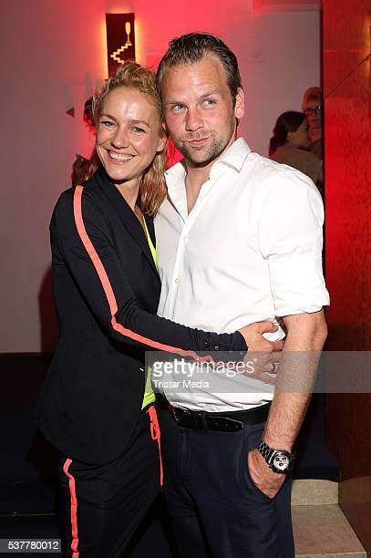 Rhea Harder and her husband Joerg Vennewald attend the Studio Hamburg Nachwuchspreis 2016 at Thalia Theater on June 2 2016 in Hamburg Germany