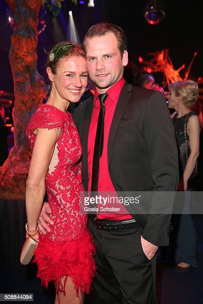 Rhea Harder and her husband Joerg Vennewald during the after show party of the Goldene Kamera 2016 on February 6 2016 in Hamburg Germany
