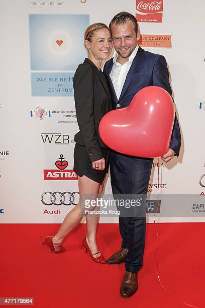Rhea Harder and Joerg Vennewald attend the 'Das Herz im Zentrum' Charity Gala on June 14 2015 in Hamburg Germany