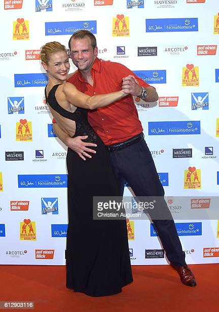 Rhea Harder and Joerg Vennewald attend the 'Helden des Alltags' Gala at Theater Kehrwieder on October 5 2016 in Hamburg Germany