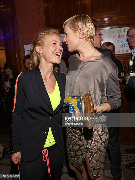 Rhea Harder and Sanna Englund attend the Studio Hamburg Nachwuchspreis 2016 at Thalia Theater on June 2 2016 in Hamburg Germany