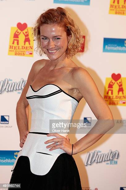 Rhea Harder poses during the 'Helden des Alltags 2015' gala at Theater Kehrwieder on October 8 2015 in Hamburg Germany