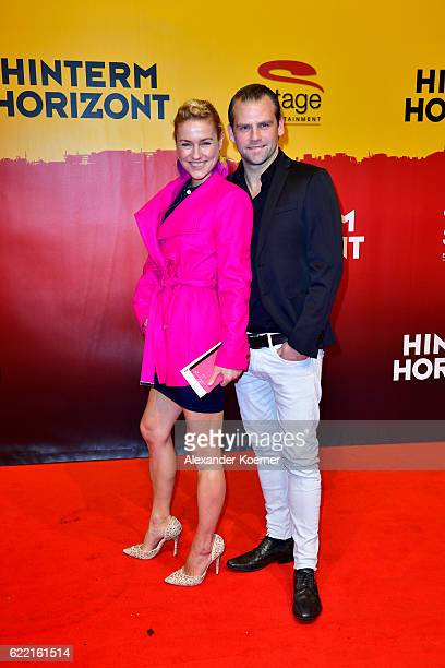 Rhea Harder Vennewald and Joerg Vennewald attend the red carpet at the Hinterm Horizont Musical premiere at Stage Operretenhaus on November 10 2016...