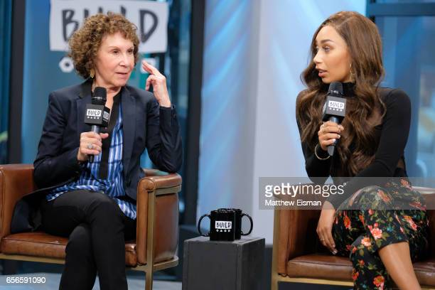 Rhea Perlman and Eva Gutowski attend Build Series Presents Rhea Perlman and Eva Gutowski discussing 'Me And My Grandma' at Build Studio on March 22...
