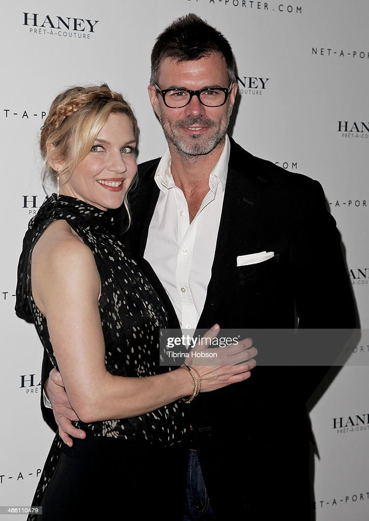 Rhea Seehorn and Graham Larson attend the Haney Pret-A-Couture launch hosted by Net-A-Porter at mmhhmmm at The Standard, Hollywood on January 30, 2014 in West Hollywood, California.
