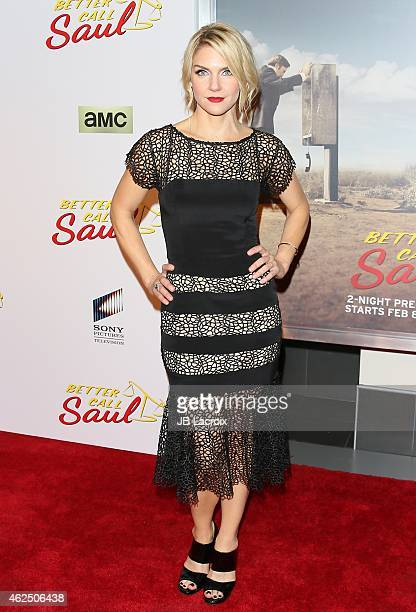 Rhea Seehorn attends the 'Better Call Saul' Los Angeles Series Premiere Screening held at Regal Cinemas LA Live on January 29 2015 in Los Angeles...