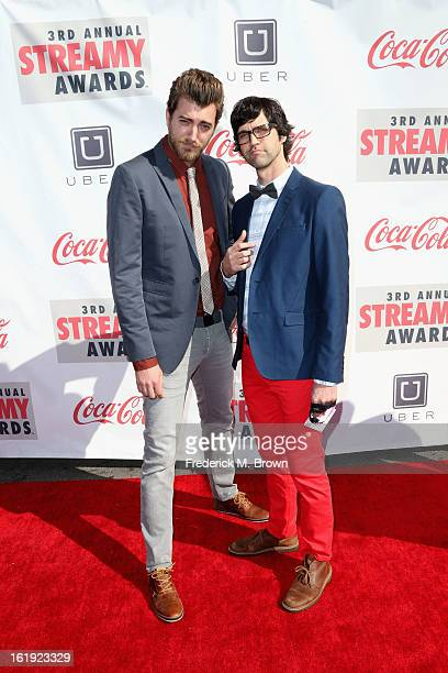 Rhett and Link attend the 3rd Annual Streamy Awards at Hollywood Palladium on February 17 2013 in Hollywood California