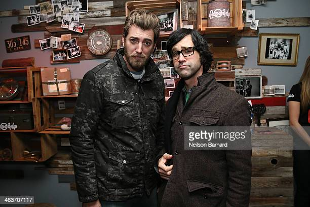 Rhett and Link attend the YouTube on Main Street Party on January 18 2014 in Park City Utah