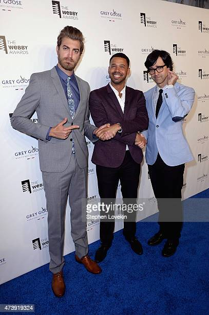 Rhett James Maclaughlan Iman Crosson and Charles Lincoln 'Link' Neal attend GREY GOOSE Vodka hosts The 19th Annual Webby Awards on May 18 2015 in New...