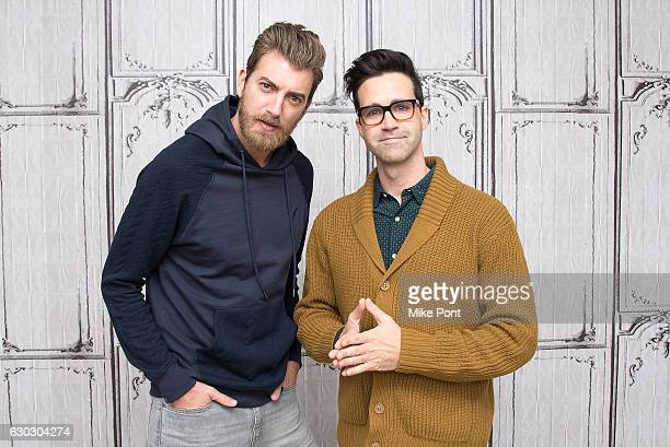 Rhett James McLaughlin and Charles 'Link' Neal III attend Build Series to discuss 'Rhett Link's Buddy System' at AOL HQ on December 20 2016 in New...
