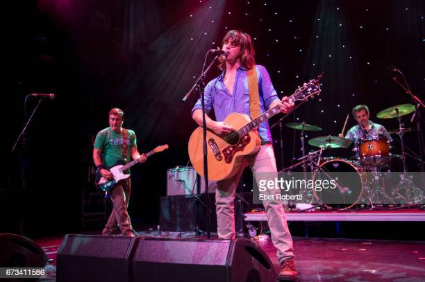 Rhett Miller of the Old 97's performs on The Outlaw Country Cruise from Tampa to Cozumel on February 27 2017 In the background are Ken Bethea and...